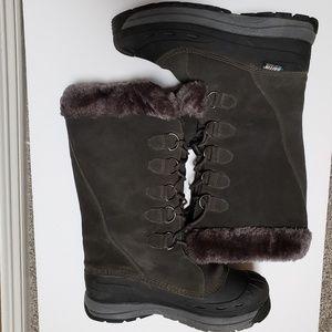 Baffin Judy Polar Proven Gray Suede rubber boot 11